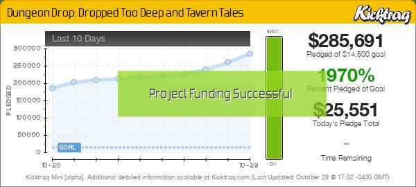 Dungeon Drop: Dropped Too Deep and Tavern Tales -- Kicktraq Mini