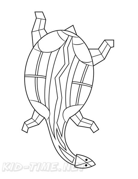 Aboriginal Animal Turtle Drawings Coloring Book Page