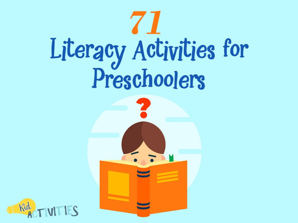 71 Literacy Activities For Preschoolers Fun Writing And