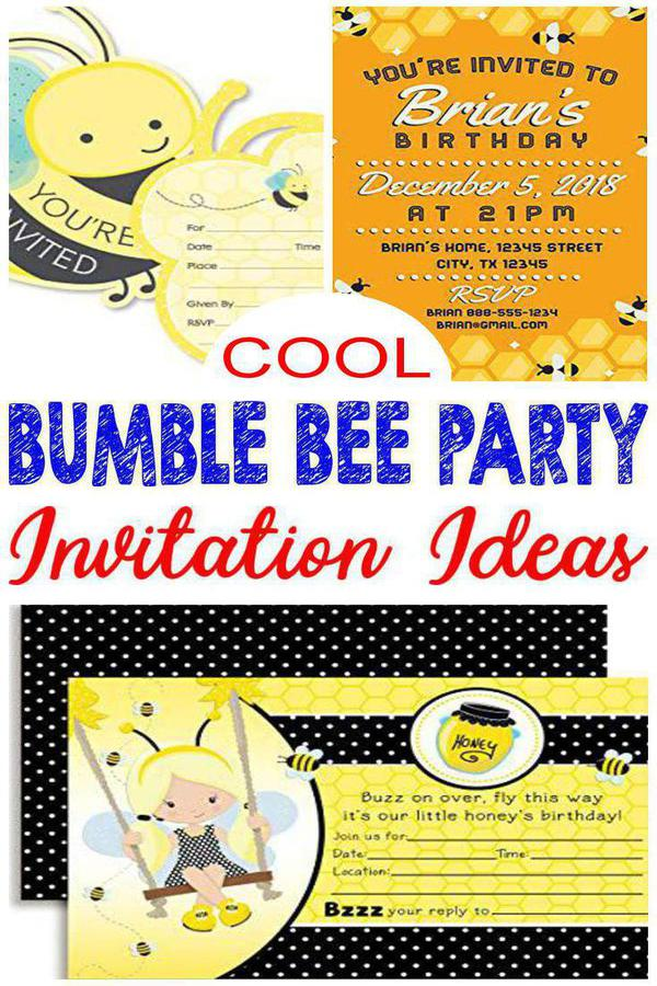best bumble bee party invitations