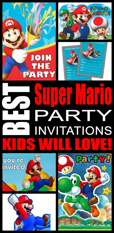best super mario party invitations kids