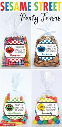 Sesame Street Baby Shower Favors