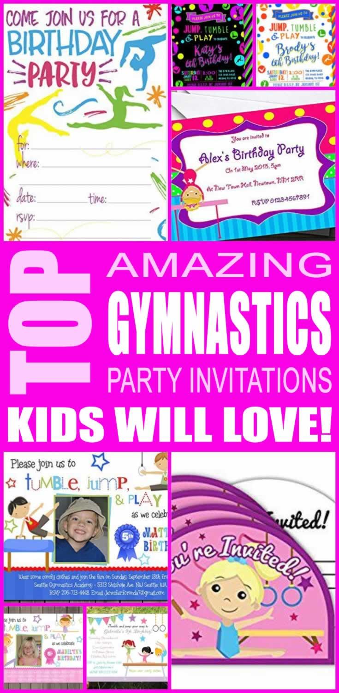 12 x childrens gymnastics birthday