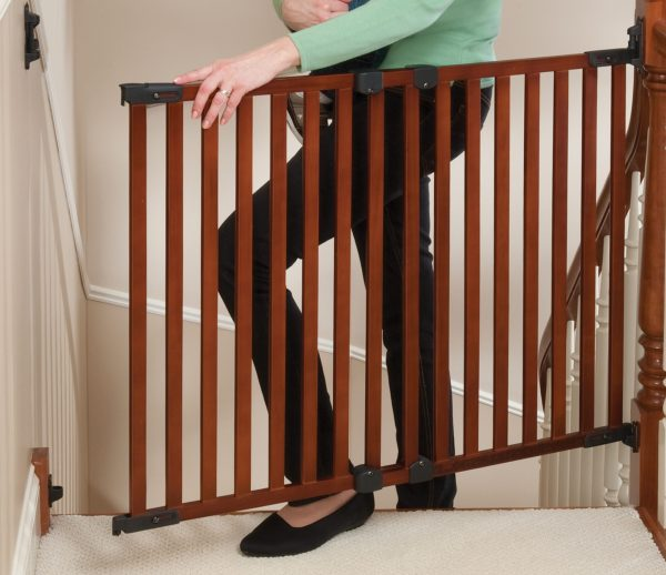 Top of Stairs Baby Gate Wood