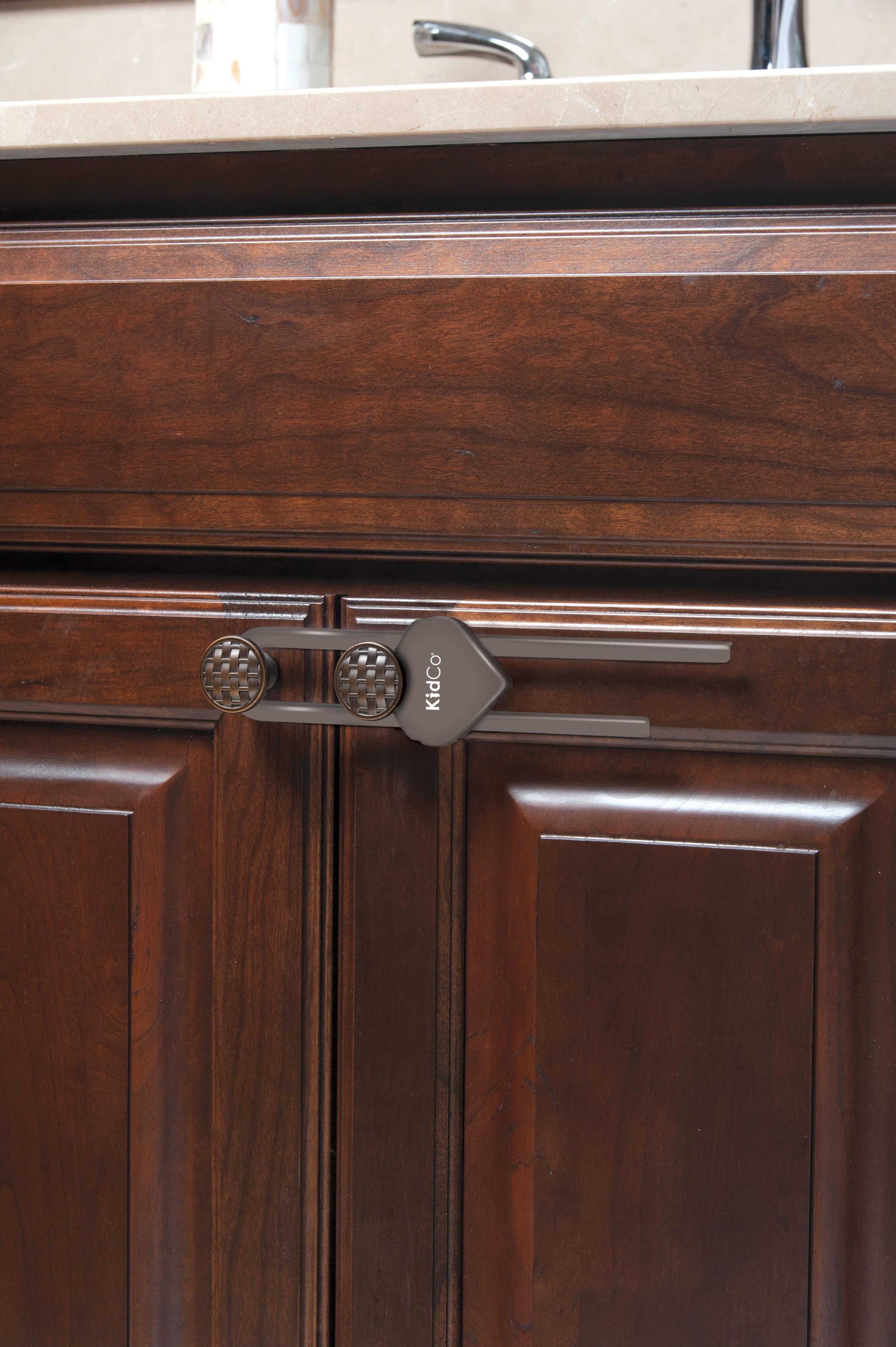 Sliding Cabinet Locks Brown