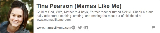 Foodies and Crafties Soiree Pinterest blog hop featured blogger Tina Pearson Mamas Like Me