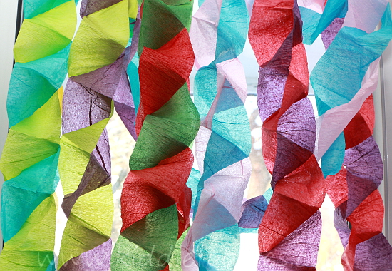 Make A Crepe Paper Christmas Tree Centerpiece