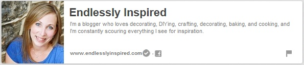Foodies and Crafties Soiree Pinterest blog hop featured blogger Jenn from Endlessly Inspired