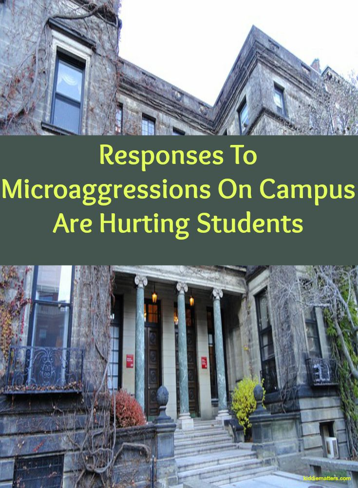 Responses To MicroAgressions On Campus Are Hurting Students