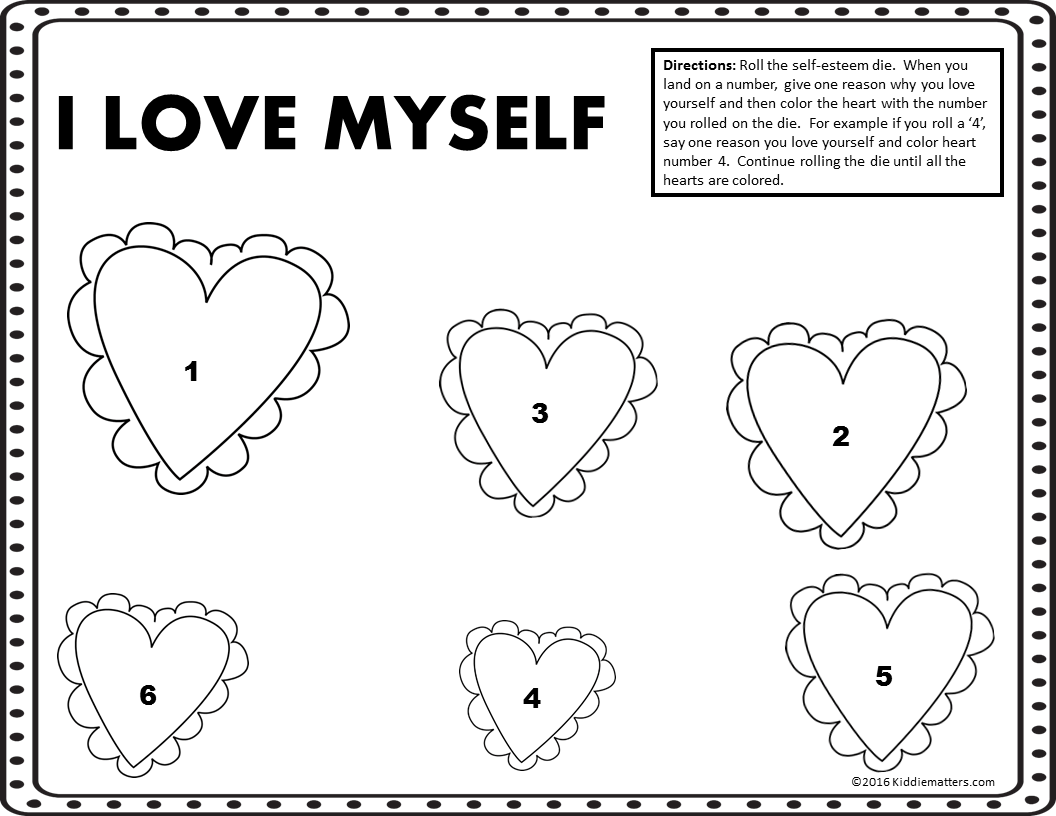 SelfEsteem Building Activities for Kids Kiddie Matters – Self Worth Worksheets
