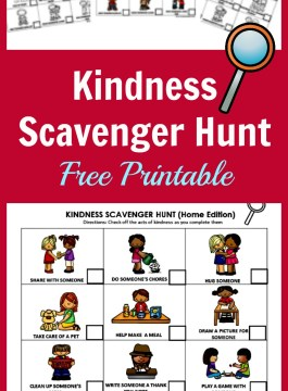 Kindness Scavenger Hunt: Teaching Kids How To Be Kind