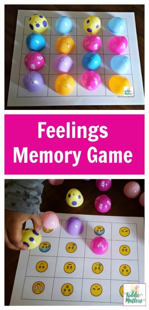 Plastic Easter Egg Feelings Memory Game