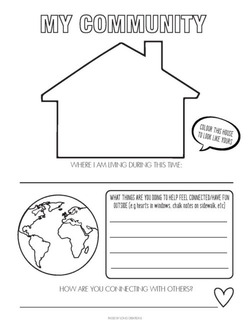 small resolution of Free Covid-19 Time Capsule Worksheets - KiddyChart