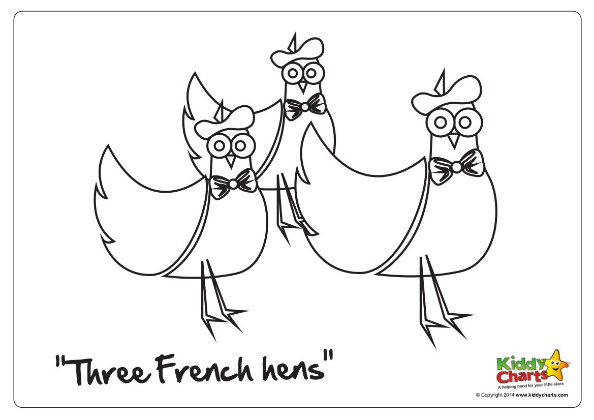 On the 3rd day of Christmas .. three french hens