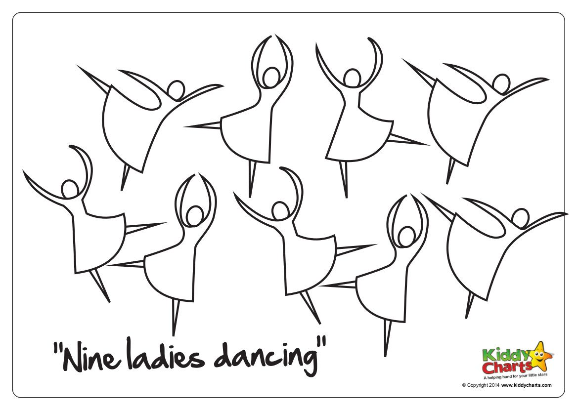 On the 9th day of Christmas nine ladies dancing