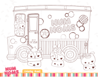 Free Num Noms coloring pages & activities for kids ...