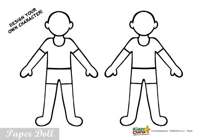 Fireman activity for kids: Free paper dolls