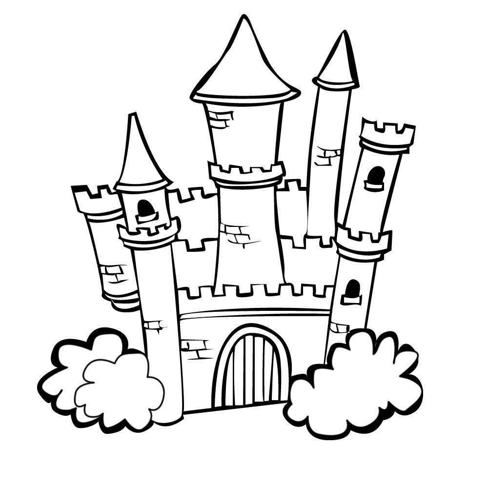 Castle colouring pages: Princess castle