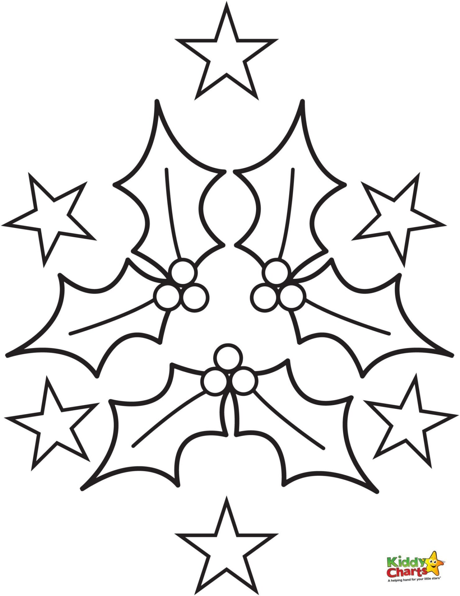 Holly Coloring Pages