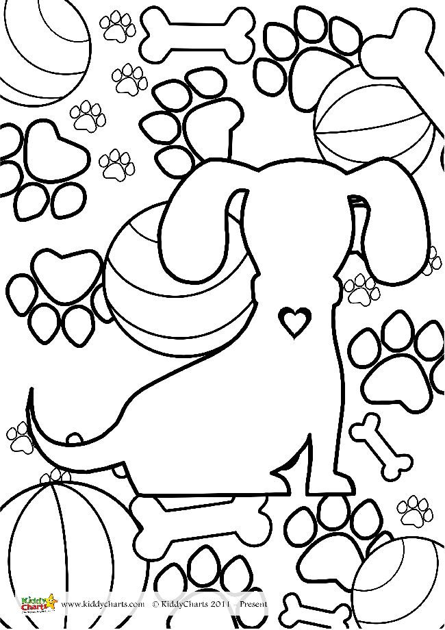 Dogs adult colouring; and one for the kids too!