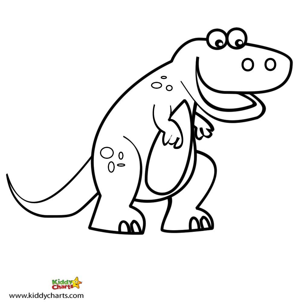 Free Dinosaur Coloring Pages: Let the T-Rex in you out!