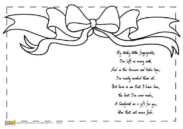 Printable Mothers Day poems; Hand and footprint gifts