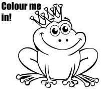 Free frog coloring page its a prince baby