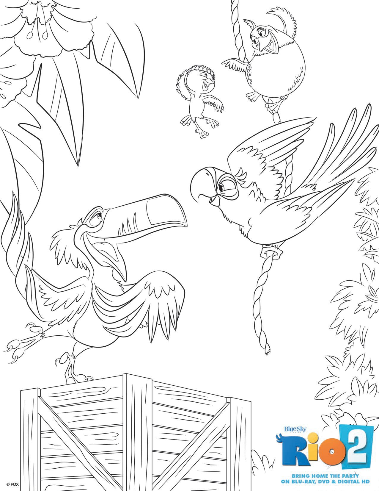 Rio 2 Coloring pages to download (part 2)