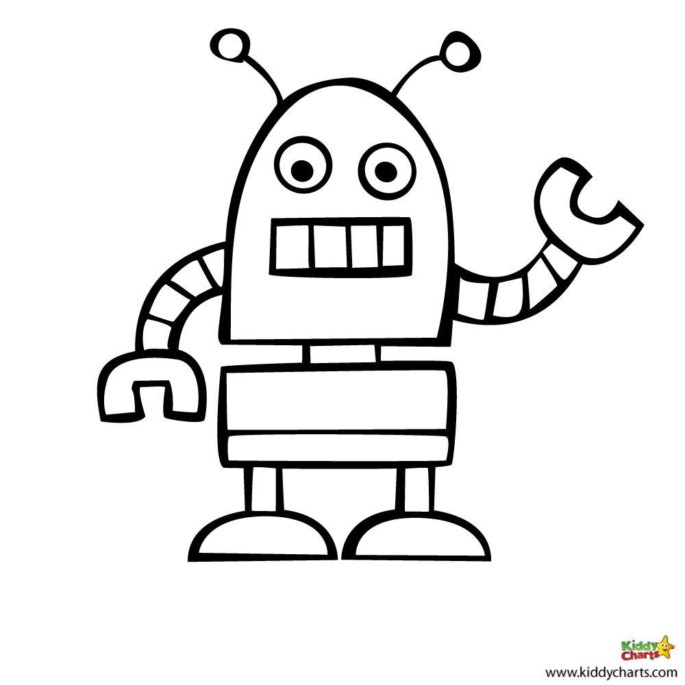 Robot coloring pages: Beep Beep!