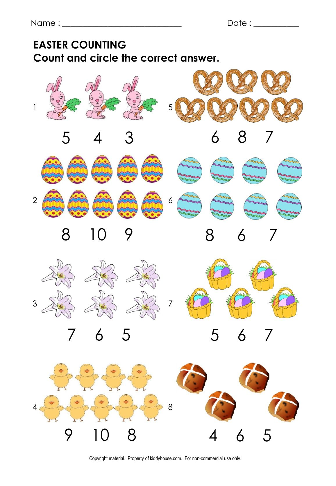 Free Easter Worksheet