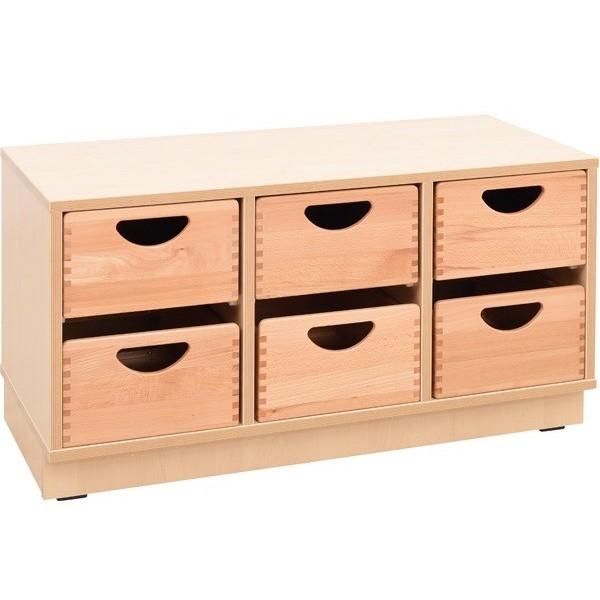 meuble avec bacs de rangement