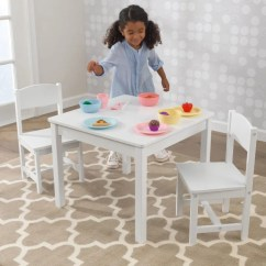 Table And Chairs For Kids Chair Cover Rentals St John's Nl Sets Kidkraft Aspen 2 Set White