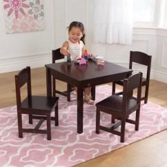Kidkraft White Table And Chairs Desk On Carpet Kids Sets Farmhouse 4 Chair Set Espresso