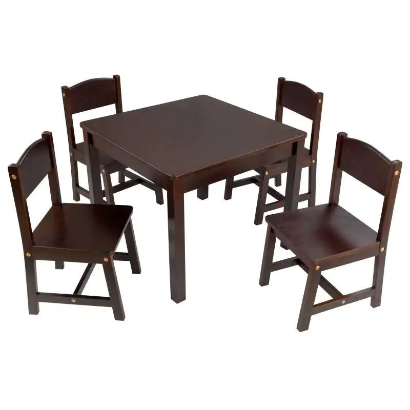 kidkraft farmhouse table and chair set espresso used power chairs for sale 4