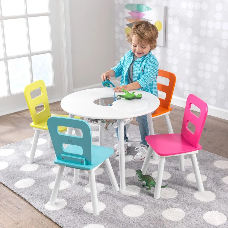 table and chairs for kids office chair quikr ahmedabad sets kidkraft round 2 set with storage brights