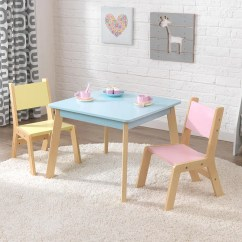Kidkraft White Table And Chairs Garden Egg Chair Covers Kids Sets Modern Set In Pastel