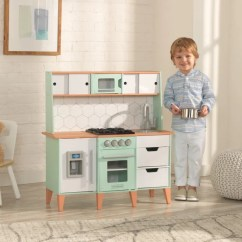 Kid Kraft Play Kitchen Full Cabinets Kitchens Mid Century Modern With Ez Assembly