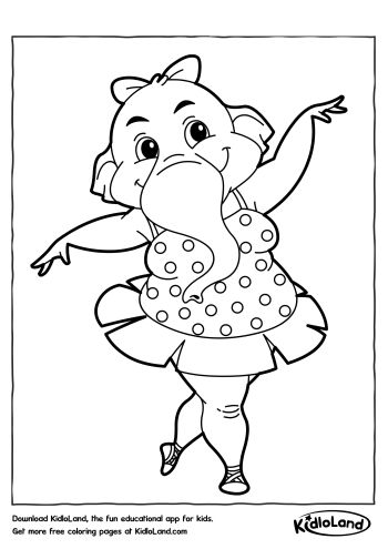 The Word Dance Pages Coloring Pages