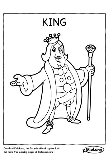 Download Free King Coloring Page and educational activity