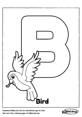 Download Free Alphabet Coloring B and educational activity