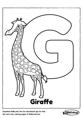 Download Free Alphabet Coloring G and educational activity