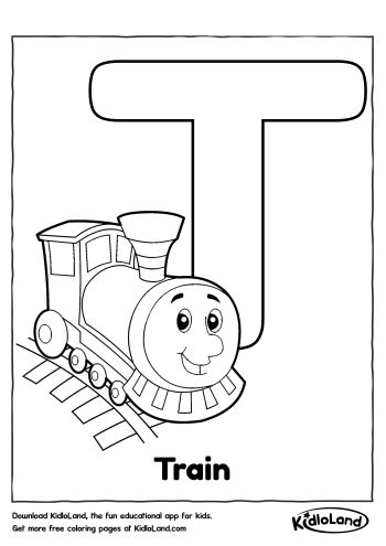 Download Free Alphabet Coloring T and educational activity