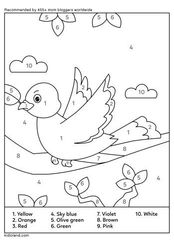 Download Free Color By Number 10 and educational activity