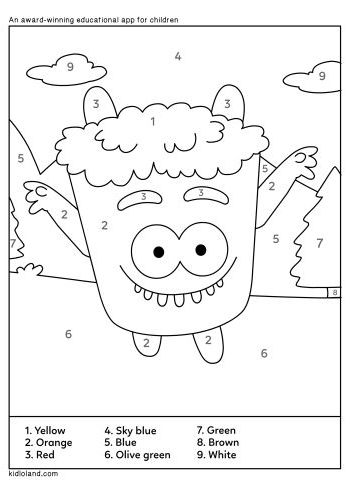 Download Free Color By Number 25 and educational activity