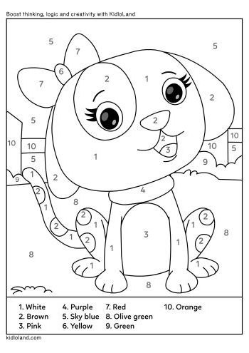Download Free Color By Number 32 and educational activity