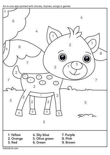 Download Free Color By Number 35 and educational activity