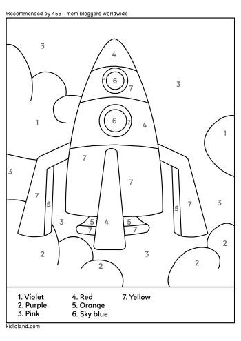 Download Free Color By Number 50 and educational activity