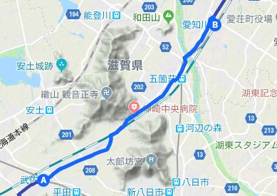 中山道3 武佐宿⇒愛知川宿