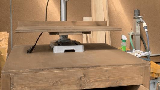 卓上ボール盤台と拡張テーブル