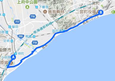 東海道 28 小田原⇒二宮